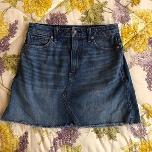 A&F Distressed Jean Skirt